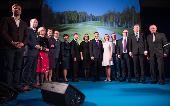 The Reform Party's leadership (Siim Kallas absent), Jan. 7, 2016.