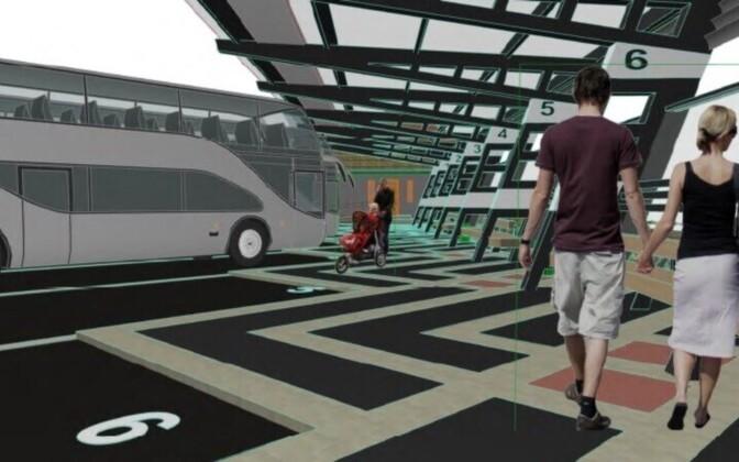 Таким планируется сделать автовокзал в Нарве.