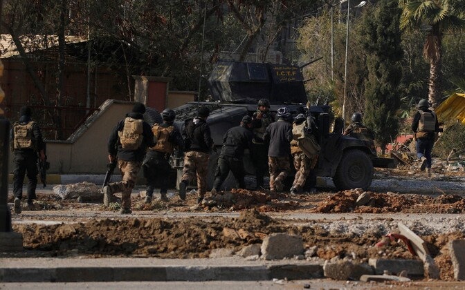 Iraagi erioperatsioonide jõud (ISOF) Mosuli ülikooli lähistel.