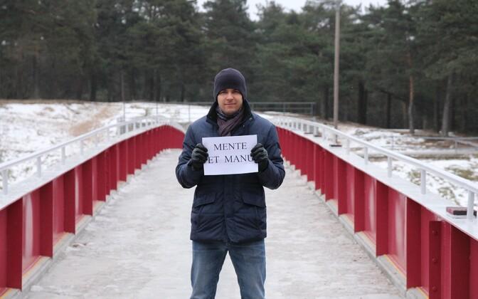 Risto Kask Nõmme sillal.