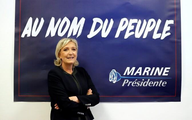 Prantsuse Rahvusrinde liider Marine Le Pen.