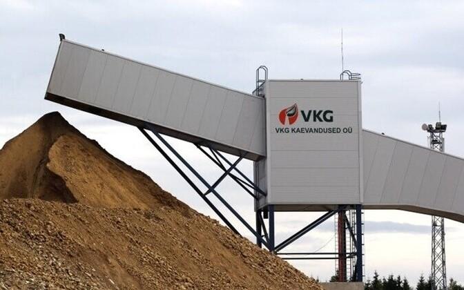 At a VKG mine in Ida-Viru County.