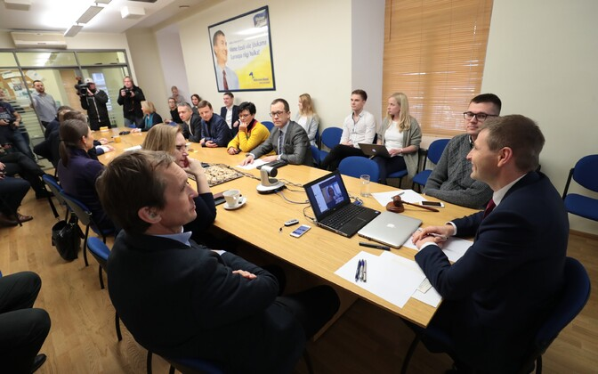 A meeting of the Reform Party's leadership in Tallinn. Jan. 13, 2017.
