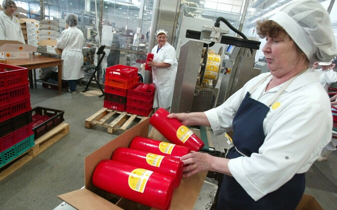 Cheese being packed at an E-piim cheese factory. Photo is illustrative.