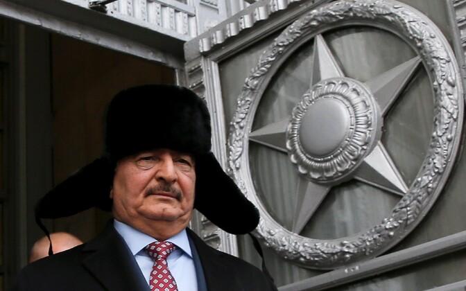 Liibüa kindral Khalifa Haftar eelmise aasta novembris Moskvas Vene välisministeeriumis.