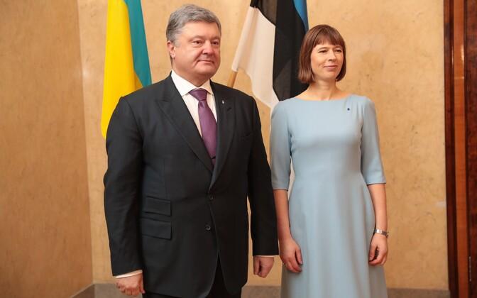 Petro Porošenko ja Kersti Kaljulaid.