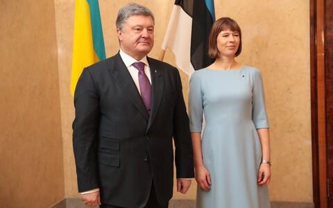 Ukrainian President Petro Poroshenko with President Kersti Kaljulaid. January 2017.