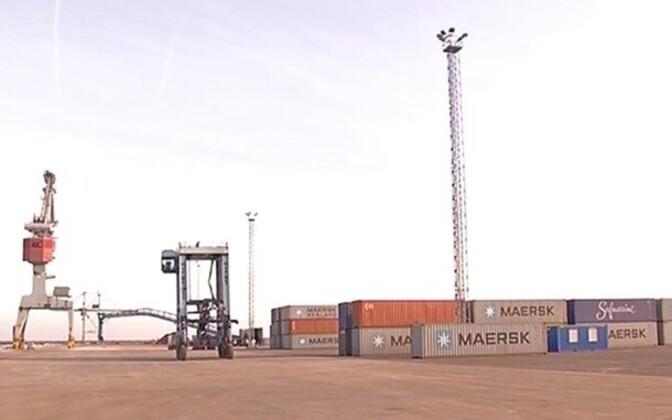 Новый контейнерный терминал в Силламяэском порту