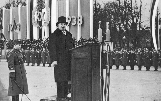 Konstantin Päts speaking on the occasion of the 20th anniversary of the Republic of Estonia, 1938.