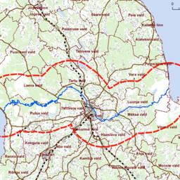Plaanitava tehase võimalik asukoht Tartu- või Viljandimaal.