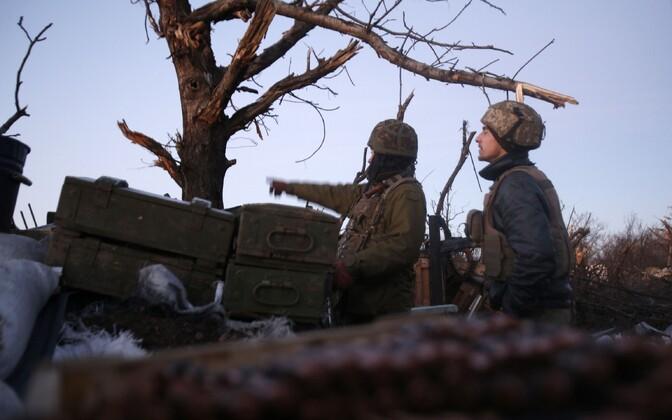 Ukraina sõdurid Avdijivka lähistel.