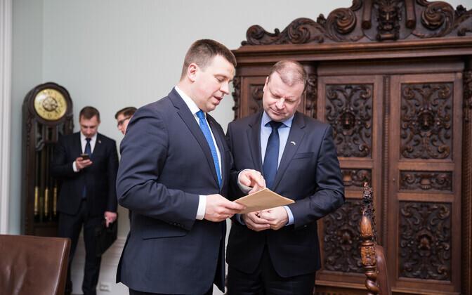 Jüri Ratas ja Saulius Skvernelis Tallinnas.