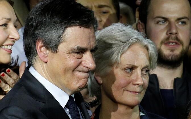 Francois ja Penelope Fillon.