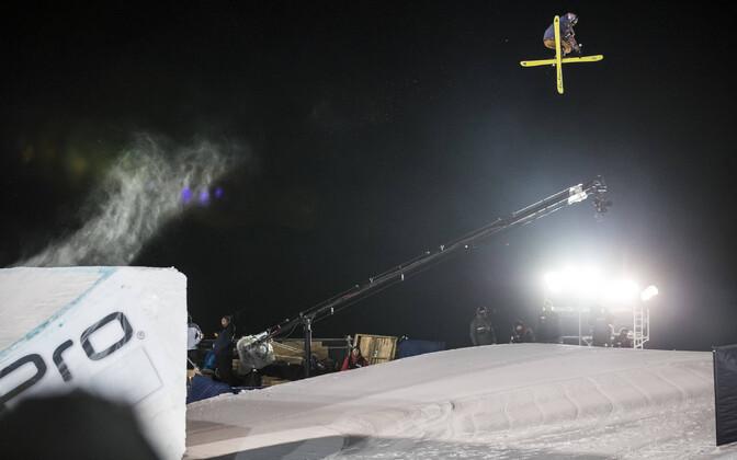 Kelly Sildaru X-mängude Big Airi võistlusel.