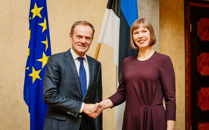 Donald Tusk ja Kersti Kaljulaid.