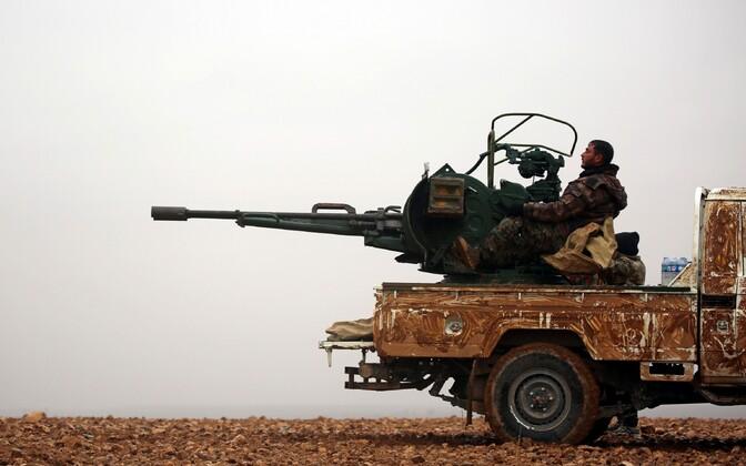 Süüria Demokraatlike Jõudude võitlejad.