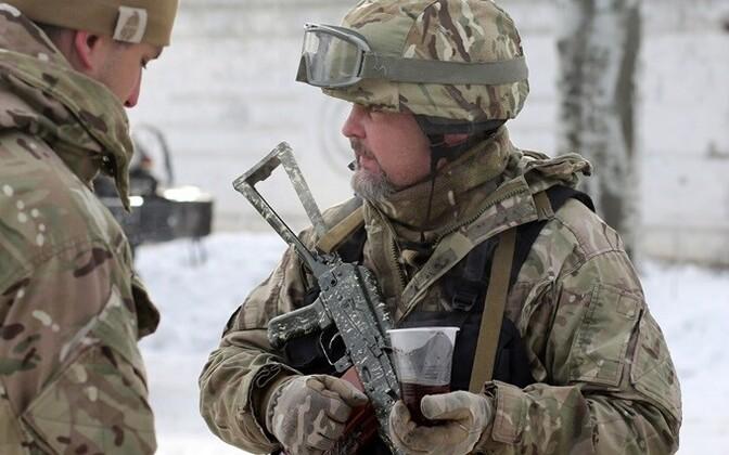 Ukrainian soldiers in Avdiyivka, East Ukraine.