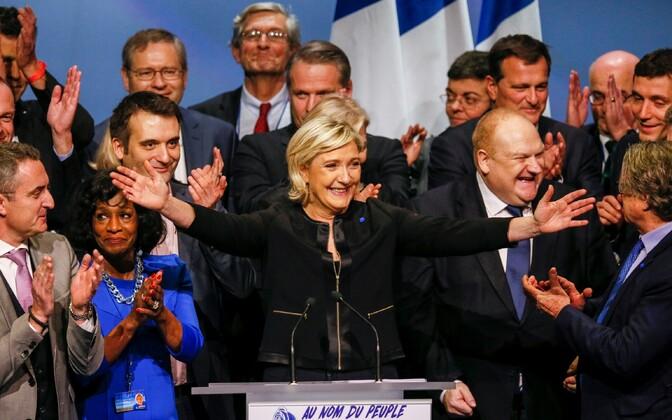 Marine Le Pen Lyonis oma presidendikampaania avaüritusel.