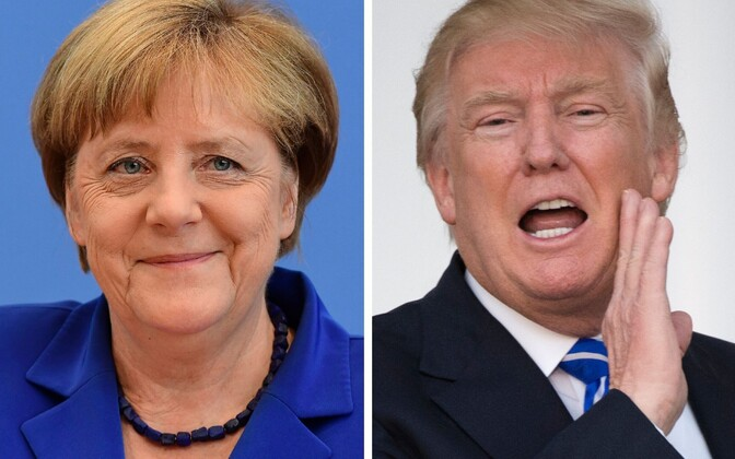Angela Merkel ja Donald Trump
