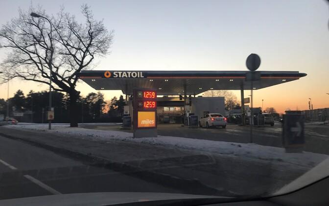 Hind Statoili tanklas teisipäeva õhtul.