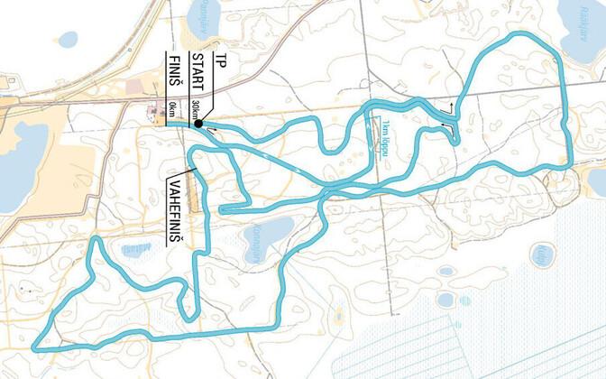 Alutaguse 2017. aasta suusamaratoni skeem