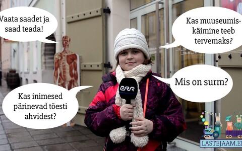 Lastejaama reporter Eliise Ra Eesti tervishoiu muuseumis.