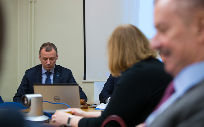 Tõnis Kõiv Reformierakonna juhatuse koosolekul.