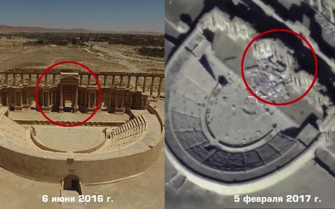 Fotod purustustest Palmyras.