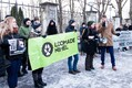 Loomakaitsjate protest.