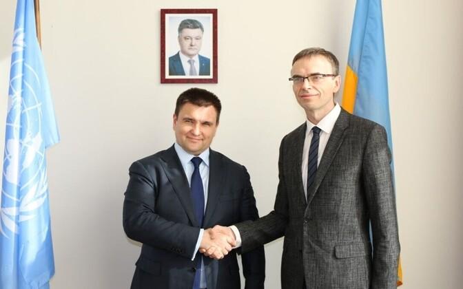 Välisminister Sven Mikser kohtus New Yorgis Ukraina kolleegi Pavlo Klimkiniga.