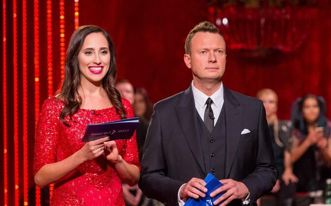 Ведущие конкурса Элина Нечаева и Марко Рейкоп.