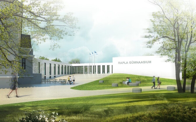 Project image for the school in Rapla by Salto architects.