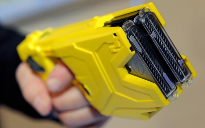 Electroshock weapon. Image is illustrative