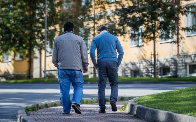 Two war refugees who have been relocated to Estonia. Photo is illustrative. Sept. 8, 2016.