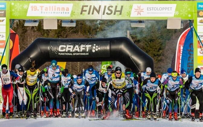 19. Tallinna suusamaratoni start