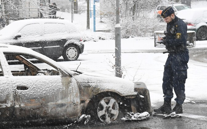 Rahutuste tagajärjed Rinkebys.