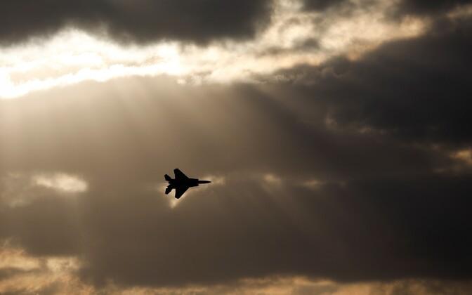 Iisraeli õhuväe hävituslennuk F-15 Hatzerimi õhuväebaasi lähistel.