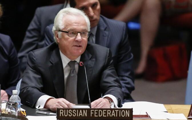 Suursaadik Vitali Tšurkin ÜRO julgeolekunõukogus 2105. aasta juulis.