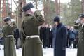 President Kersti Kaljulaid lays wreath on President Konstantin Päts' grave in Tallinn's Forest Cemetery. Feb. 23, 2017.