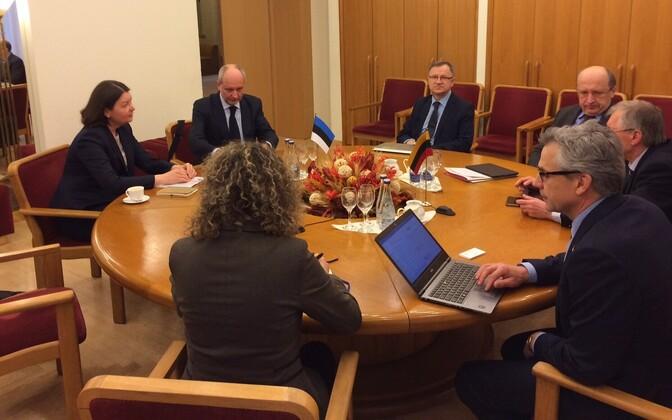 Estonian Deputy Minister for EU Affairs Matti Maasikas during his visit to Vilnius on Wedensday. Feb. 22, 2017.