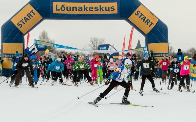 Tartu maratoni lastesõidu start