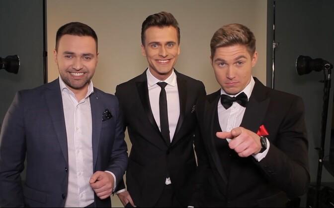 Eurovisiooni juhib esmakordselt kolm noormeest.