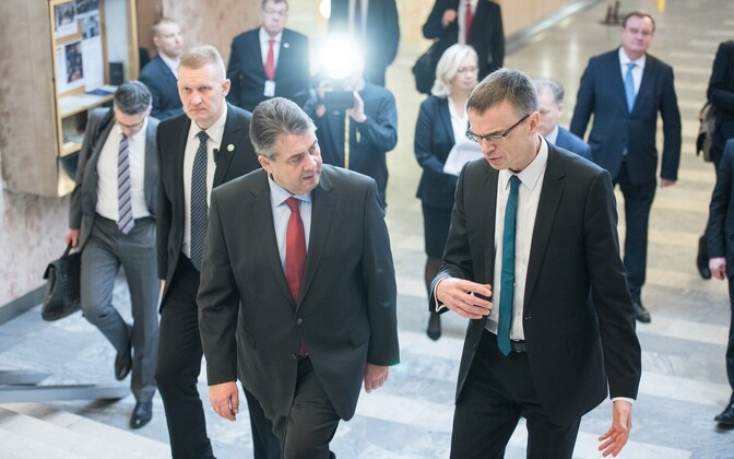 German Minister of Foreign Affairs Sigmar Gabriel met with Estonian counterpart Sven Mikser in Tallinn on Wednesday. March 1, 2017.