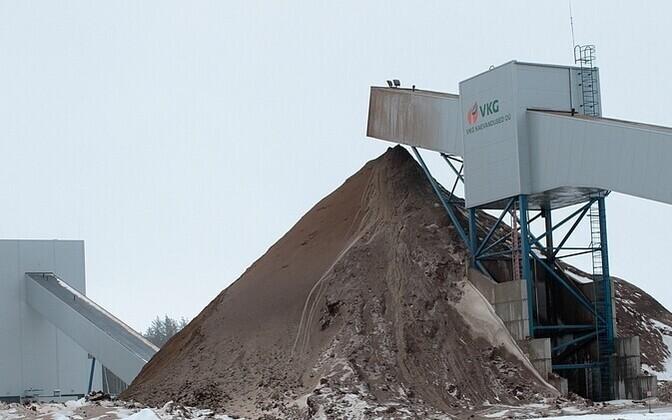 Oil shale mining by VKG in Northeastern Estonia.