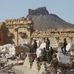Süüria sõdurid Palmyras.