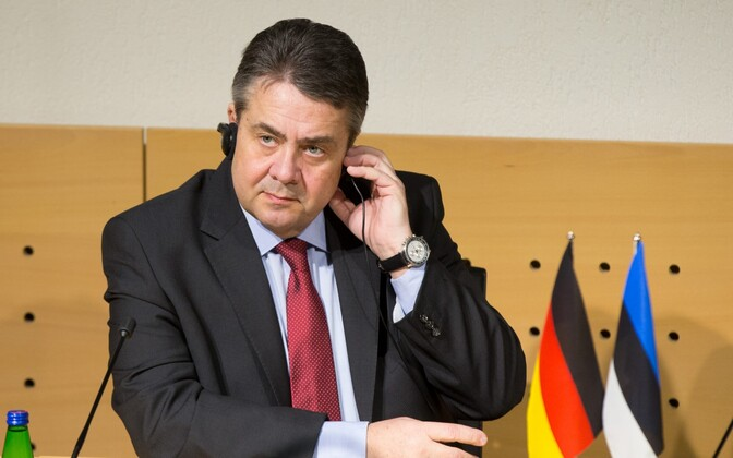 Sigmar Gabriel at the Estonian Ministry of Foreign Affairs, Mar. 1, 2017.