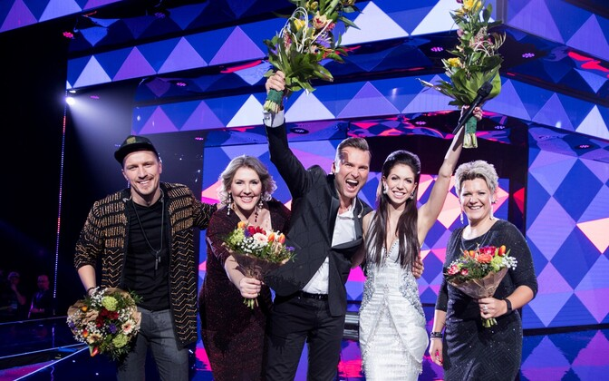 Koit Toome and Laura Põldvere won the 2017 Eesti Laul contest.