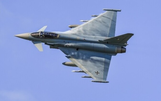 NATO Eurofighter Typhoon in German Air Force (Luftwaffe) service.