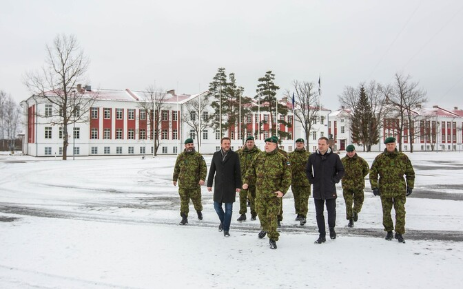 Minister of Defence Margus Tsahkna visiting the 2nd Infantry Brigade. March 7, 2017.