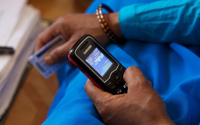 Mobiiltelefon.